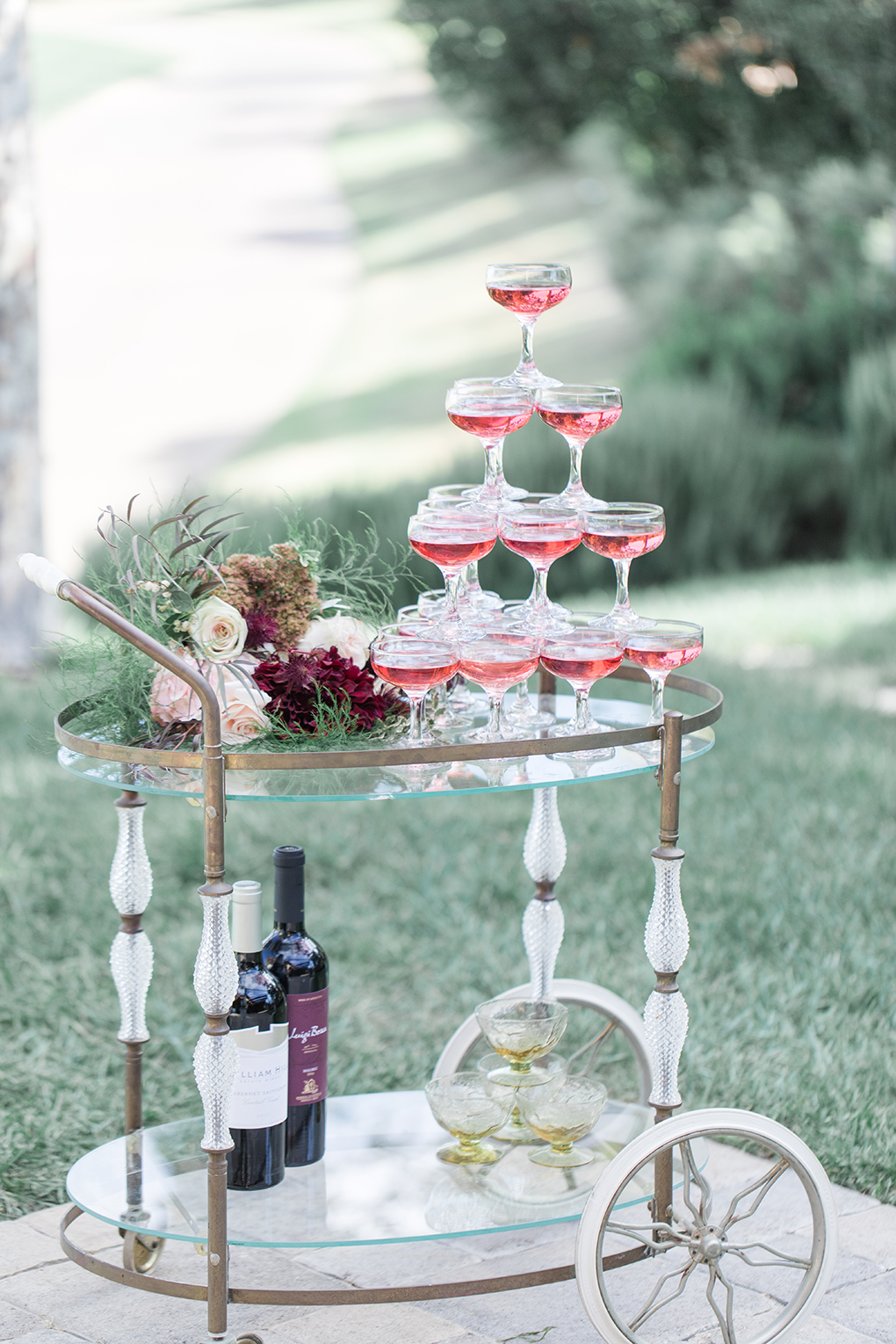 Wedding bar cart