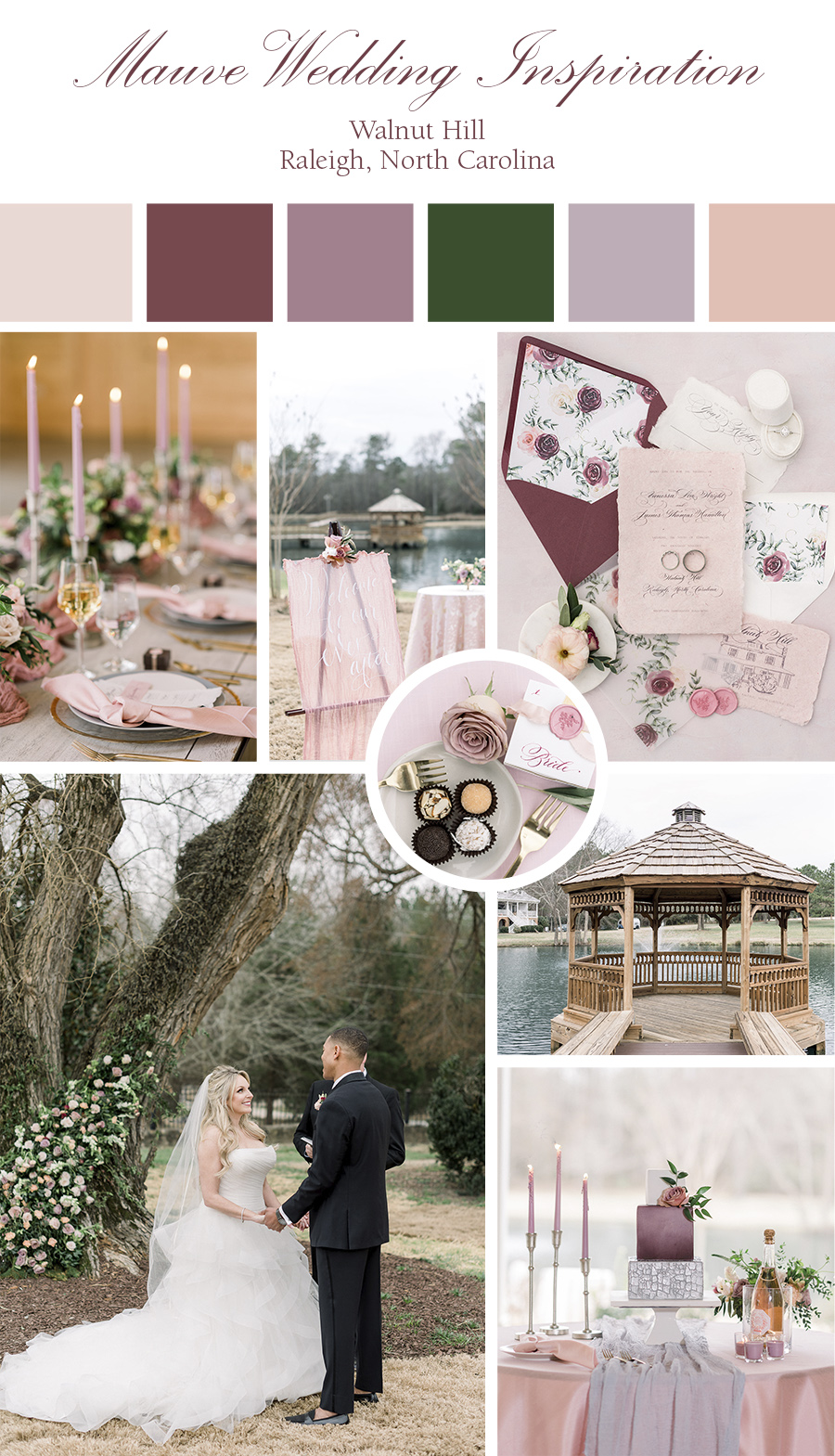 Modern elegant farm wedding inspiration with mauve and pinks