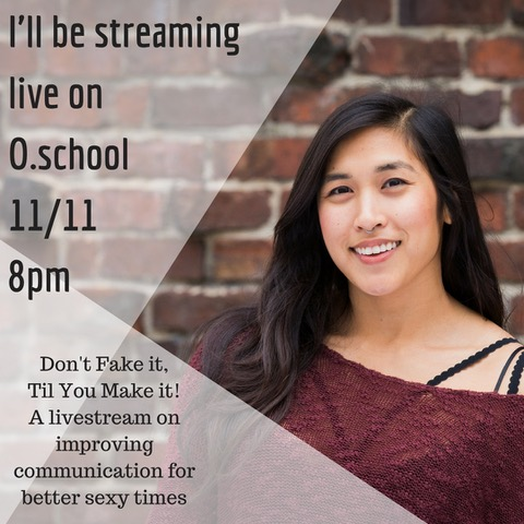 I'll be streaming live on O.school11_11 8pm-2.jpg