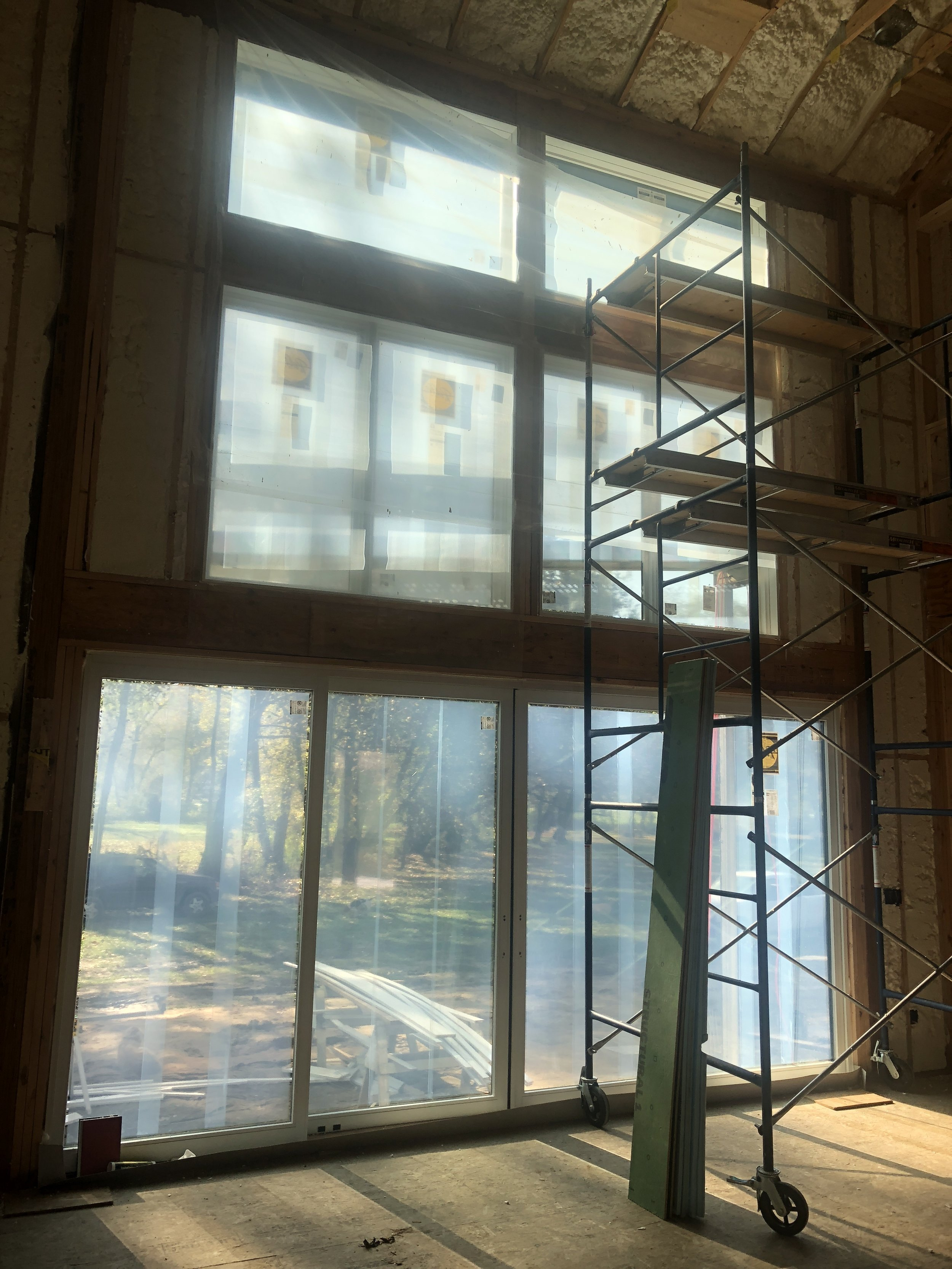 The rough-ins finished smoothly and we quickly added spray foam insulation throughout. This house is sealed up tight and the energy bills will reflect this!
