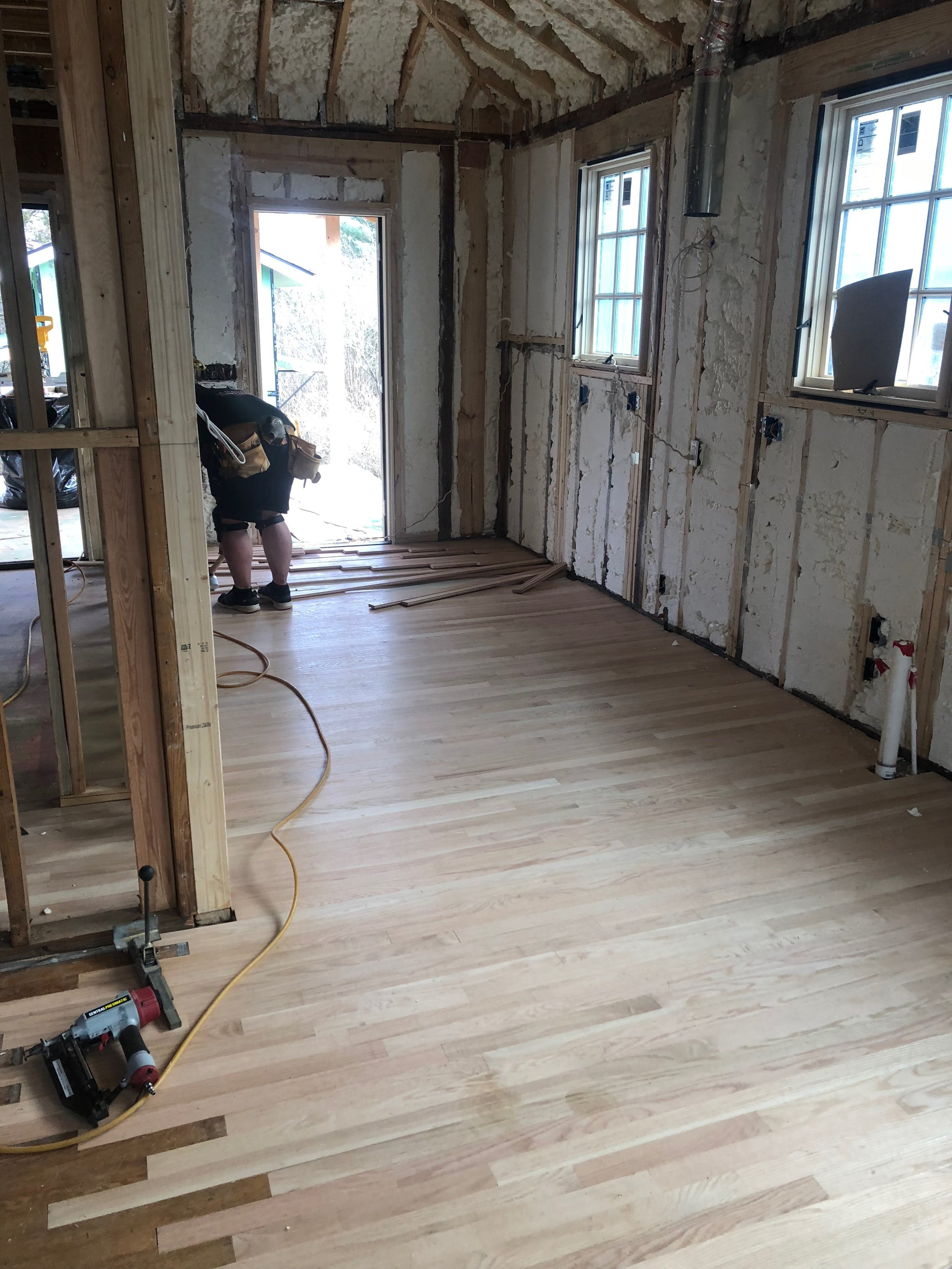 "Floors being ""laced"" back together"