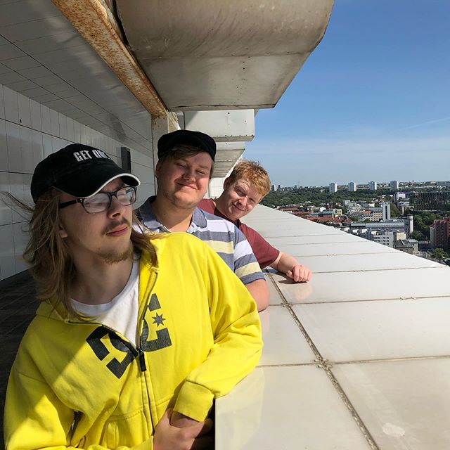 Me and the boys from Finland and UK looking at Tallinn epic style