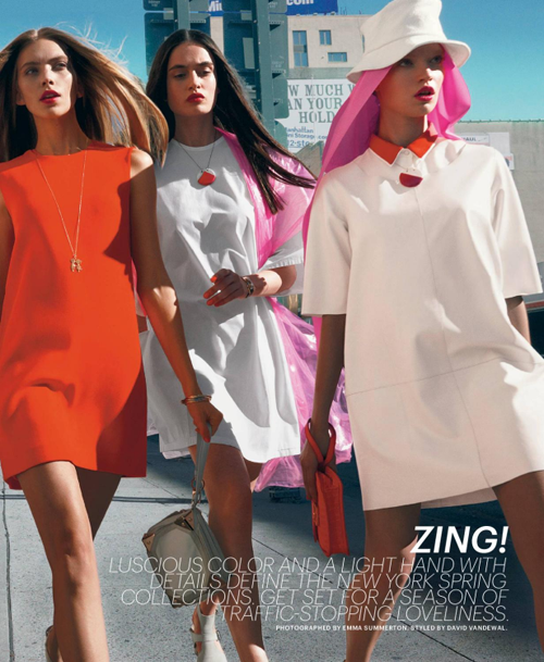 Zing! by Emma Summerton for New York Times T Magazine