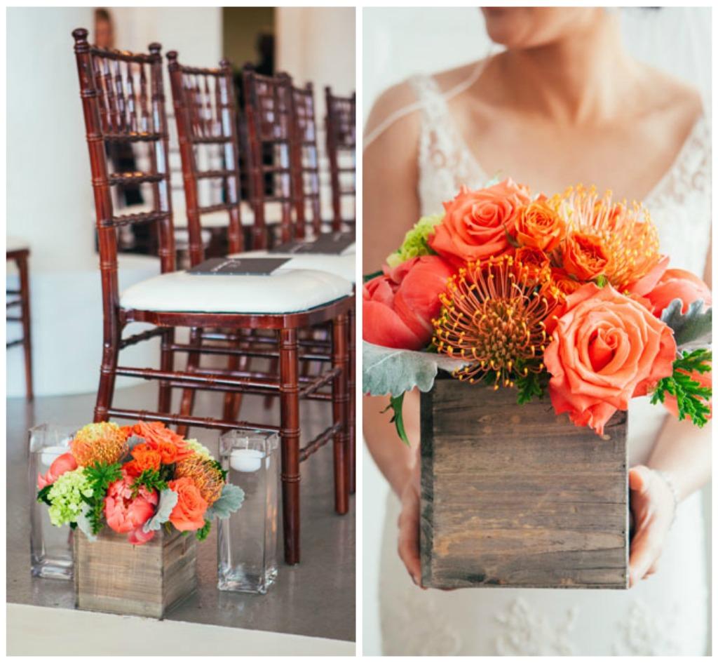 10. Room 1520 Wedding. Sweetchic Events. Studio Finch. Vale of Enna. Wood Box Aisle Decor. Peonies. Hydrangea, Roses, Protea, Dusty Miller..jpg