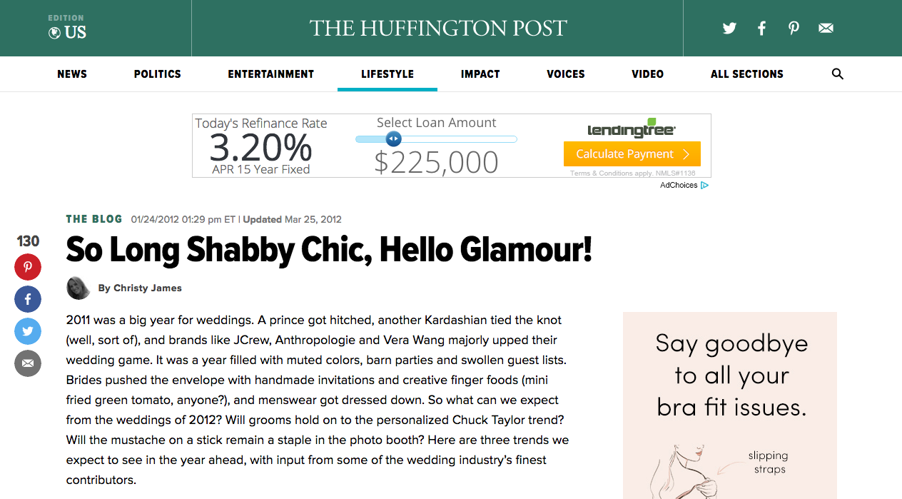 Huffington Post - January 2012
