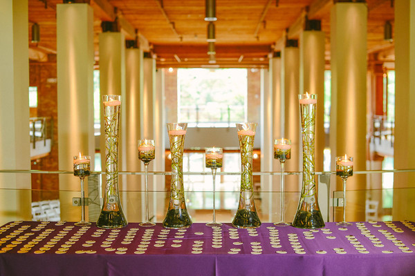 1. Karen.Boris.River East Art Center. Fragola Productions. Flower Firm. Sweetchic Events. Escort Card Table. Submerged Curly Willow. Floating Candles.