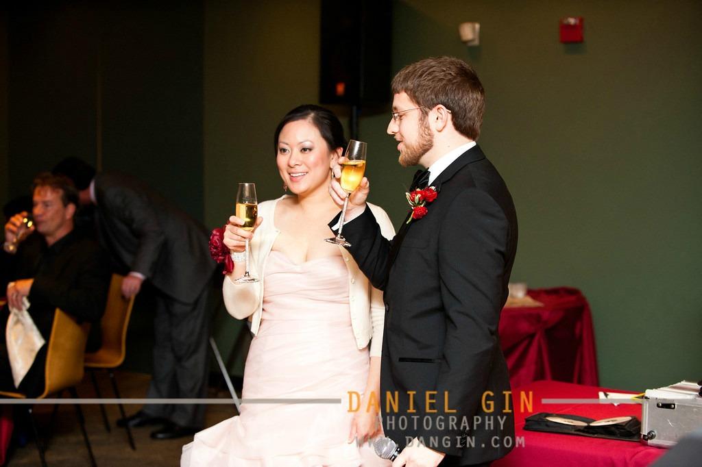 10 Morton Arboretum wedding Dan Gin photography Sweetchic Events bride and groom toast