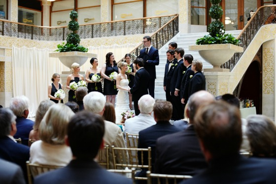 10 Sweetchic Brian Kinyon chicago Rookery wedding ceremony