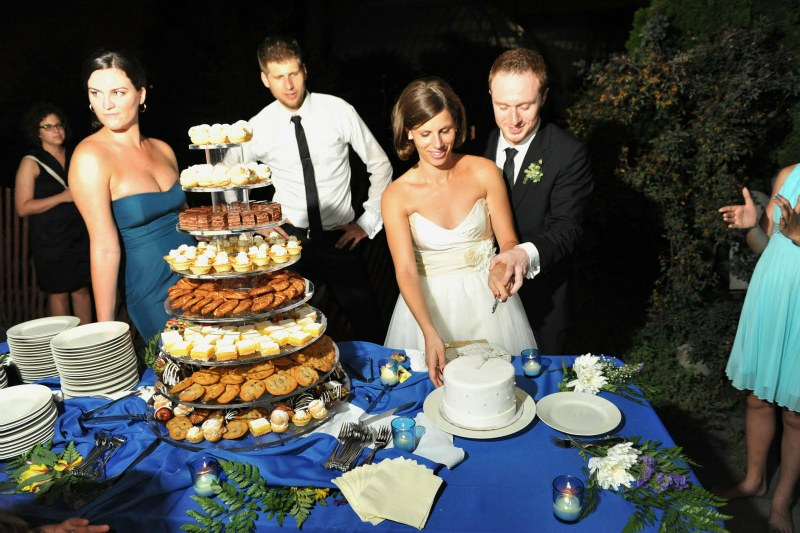 11 Garfield Park Conservatory Wedding Sweetchic Peter Coombs cake cutting