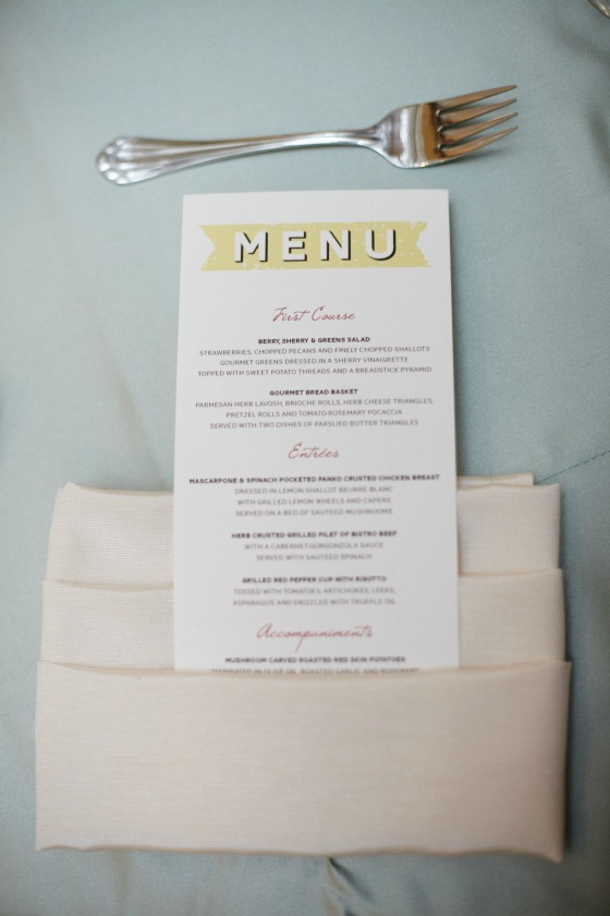 14 Sweetchic Brian Kinyon chicago Rookery wedding dinner menu