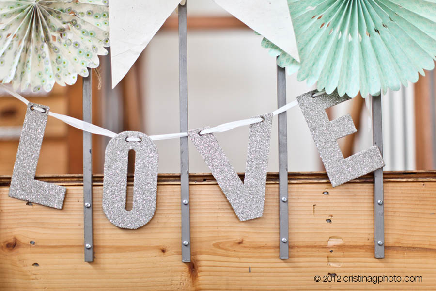 15 Kitchen Chicago Wedding Cristina G Photography Sweetchic Events LOVE Cermony Cards