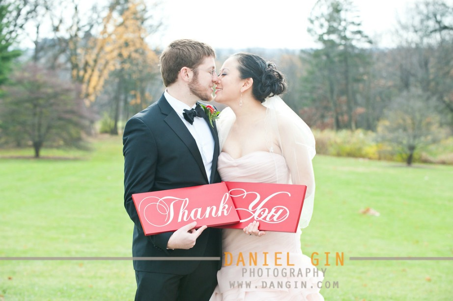 16 Morton Arboretum wedding thank you photo