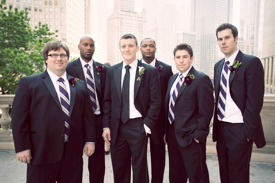 16. Alicia & Kris. Newberry Library Wedding. iLuvPhoto. Sweetchic Events. Groomsmen