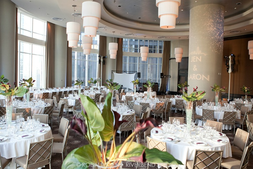 17 Jen.Aaron Trump Towers Ballroom Chicago Wedding Robin Sloan Riverbend Studio