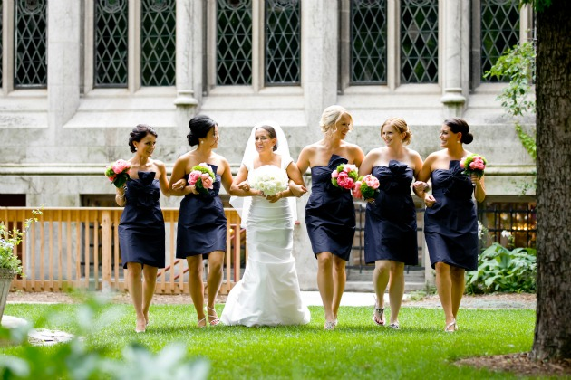 18 Chicago History Museum wedding navy jcrew bridesmaids dresses