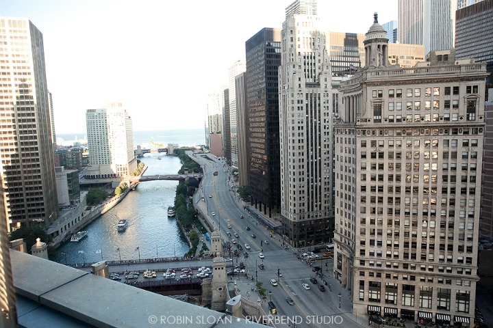 18 Jen.Aaron Trump Towers View Chicago Wedding Robin Sloan Riverbend Studio