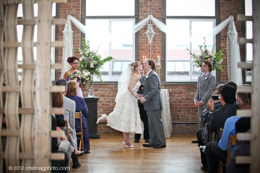 19 Kitchen Chicago Wedding Cristina G Photography Sweetchic Events Ceremony Decor Ceremony, Kiss