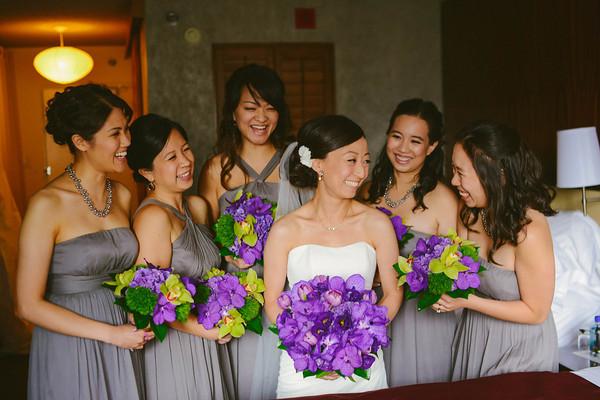 19. Karen.Boris.River East Art Center. Fragola Productions. Sweetchic Events. Bride and Bridesmaids in Grey Dresses.