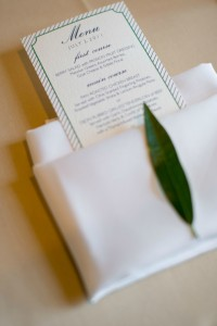 29 Chicago History Museum Wedding Dennis Lee Photo Sweetchic Events menu card leaf accent