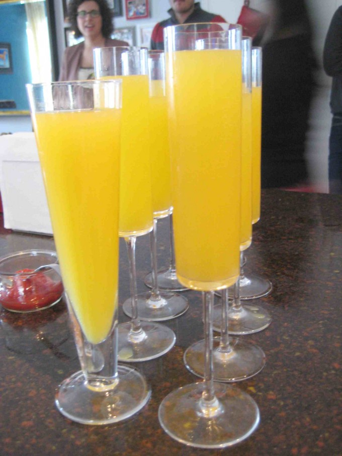 Sweetchic Events holiday party mimosas