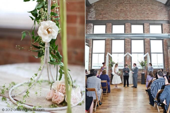 18 Kitchen Chicago Wedding Cristina G Photography Sweetchic Events Ceremony Decor