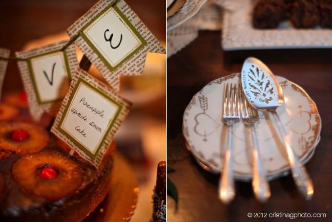 25 Kitchen Chicago Wedding Cristina G Photography Sweetchic Events Reception Dessert Pineapple Upside Down Cake