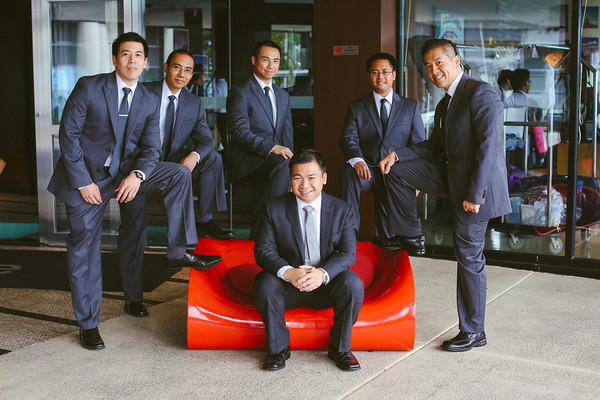 15. Karen.Boris.River East Art Center. Fragola Productions. Sweetchic Events. Groomsmen waiting at the W Lakeshore