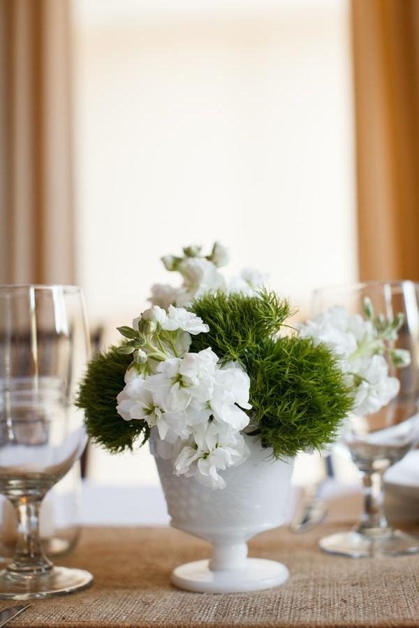 65. Melissa.Dave. Wilder Mansion. Dennis Lee Photography. Sweetchic Events. Larkspur. Green Trick and White Hydrangea Centerpiece