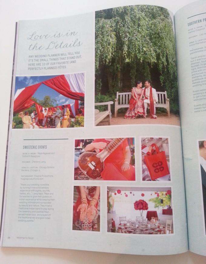 Maya.Sid.Weddings by Design feature indian wedding chicago botanic gardens 1