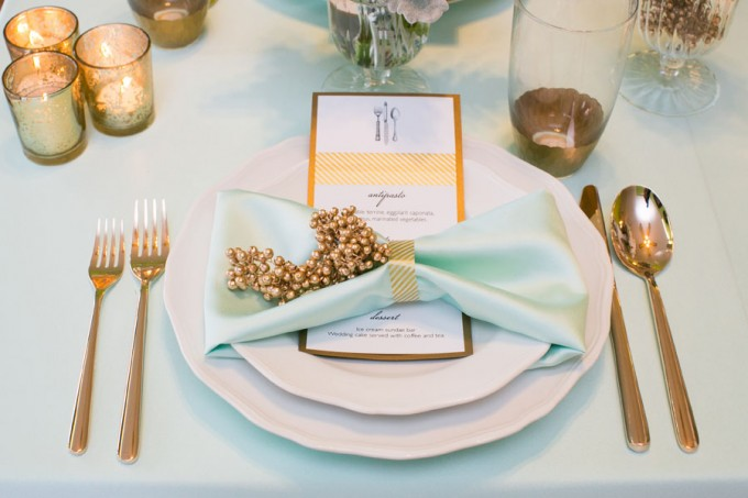 Mint and Peach Tablescape with Gold Accents. Sweetchic Events. Hinojosa Photography. I Do Event.