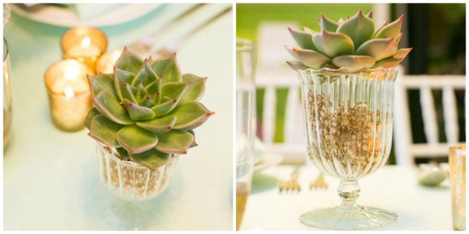 Succulent Table Accent. Flor Del Monte. Sweetchic Events. Hinojosa Photography. I Do Event
