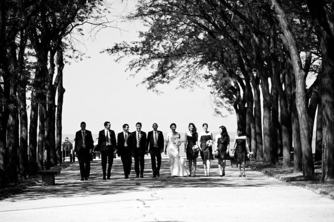 Chicago Illuminating Company. David Wittig Photography. Sweetchic Events. Scarlet Petal. Bridal Party. Olive Park.