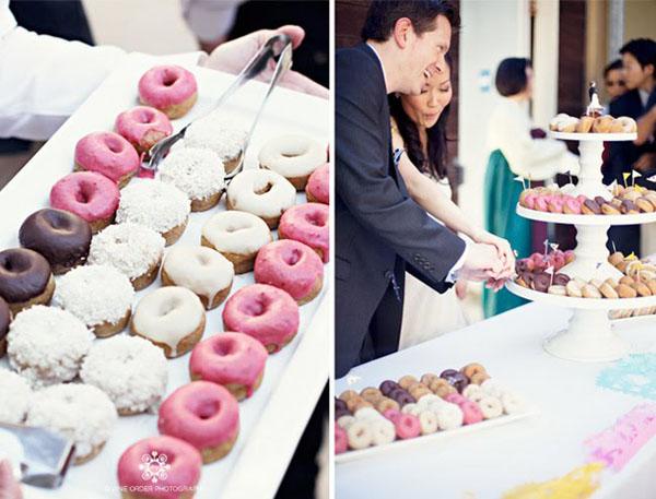 donut tower -  Divine Order Photography   via    Weddingbee