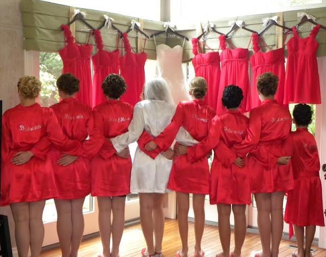 Bridesmaid Gift - Matching Robes Wedding Prep Gals
