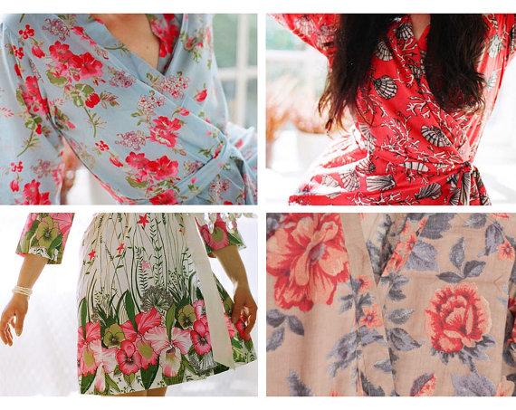 Kimono Robes for Bridesamaids. Etsy