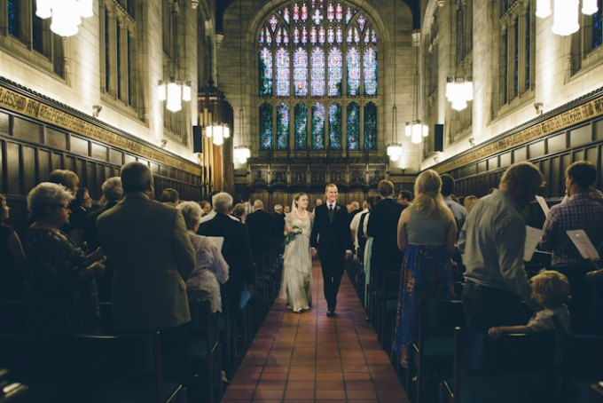 Ida Noyes Theater Wedding. Rose Tinted Lens Photography. Sweetchic Events. Bond Chapel. Recessional.
