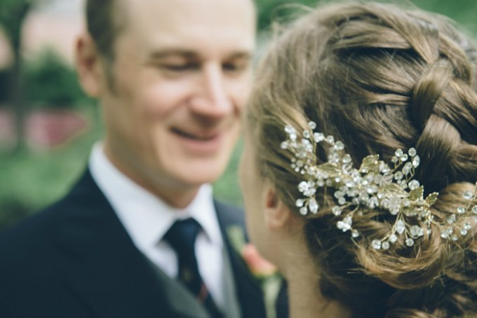 Ida Noyes Theater Wedding. Rose Tinted Lens Photography. Sweetchic Events. Bridal Crystal Floral Hairpiece