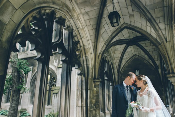 Ida Noyes Theater Wedding. Rose Tinted Lens Photography. Sweetchic Events. Bride and Groom inside Bond Chapel