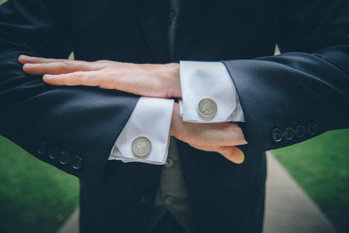 Ida Noyes Theater Wedding. Rose Tinted Lens Photography. Sweetchic Events. Grooms Cuff Links.