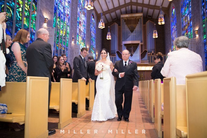 22. Germania Place Wedding. Miller & Miller Photography. Sweetchic Events. Alice Millar Chapel. Bride walking down