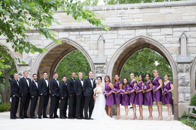29. Germania Place Wedding. Miller & Miller Photography. Sweetchic Events. Bridal Party.  Alice Millar Courtyard.