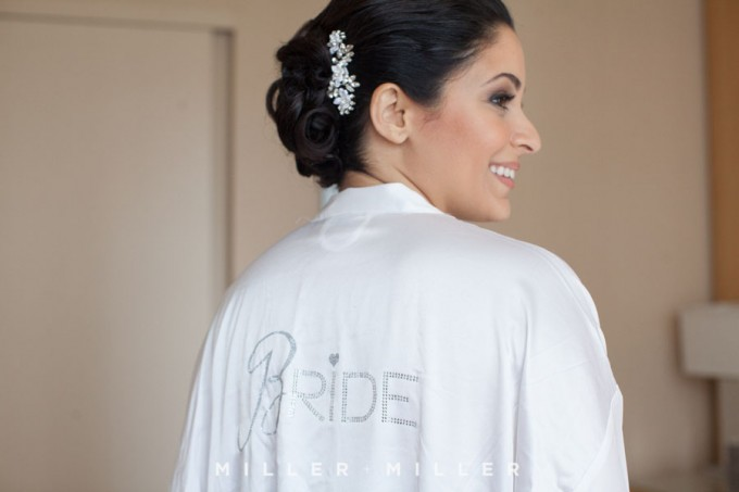 4. Germania Place Wedding. Miller & Miller Photography. Sweetchic Events. Bride in Bridal Robe.