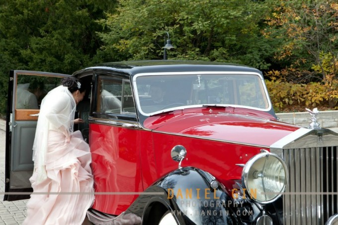 17 Morton Arboretum Wedding Classic Chassis red black Rolls Royce Sweetchic Events
