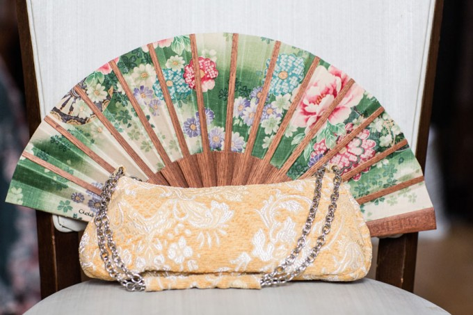 4. Keith House Wedding. Historic Home Wedding. The Way We Click. Sweetchic Events. Floral Chinese Fan. Yellow Boucle Bridal Clutch.