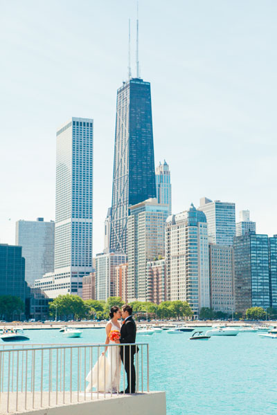 15. Room 1520 Wedding. Sweetchic Events. Studio Finch. Olive Park. Chicago Skyline. Modern Vintage. Summer
