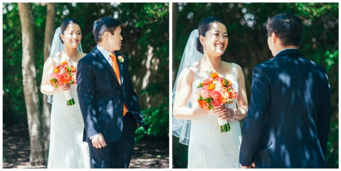 9. Room 1520 Wedding. Sweetchic Events. Studio Finch. Vale of Enna. First Look. Olive Park. Coral Bridal Bouquet.
