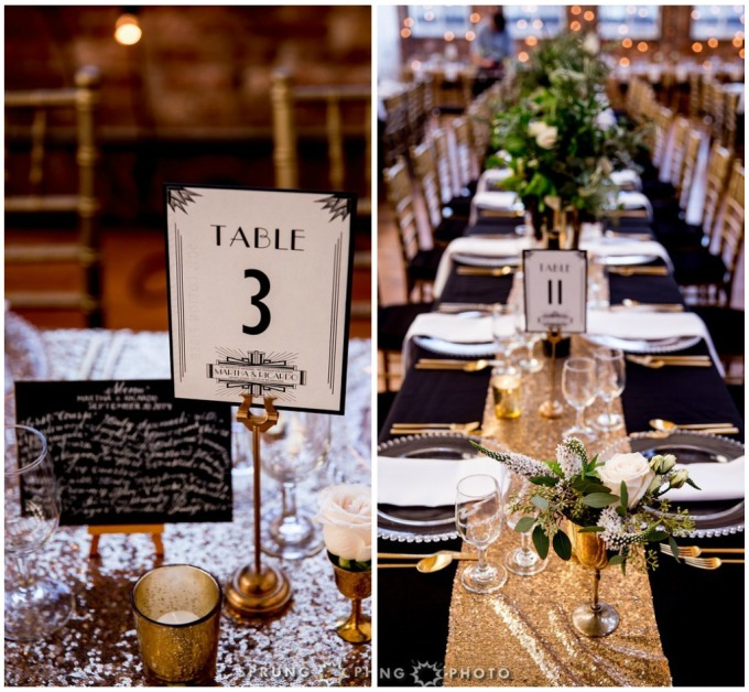 21. Art Deco Wedding. Kitchen Chicago. Victoria Sprung Photography. Sweetchic Events. Asrai Garden. Sequin Table Runner. Hollywood Glam Centerpieces. Custom