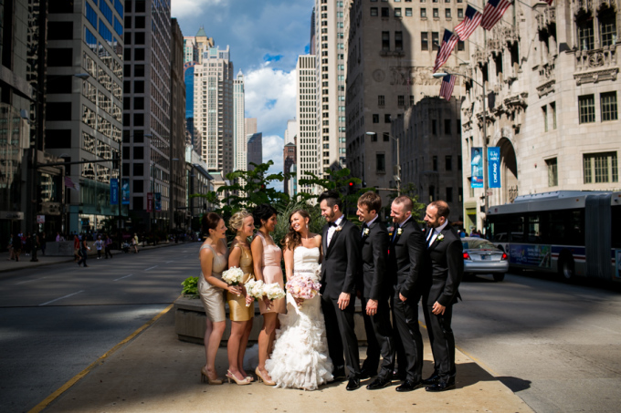 11. Union Station Wedding. Steve Koo Photography. Sweetchic Events. Michigan Ave. Chicago Skyline