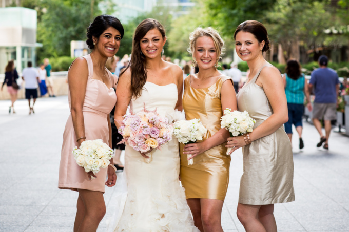 13. Union Station Wedding. Steve Koo Photography. Sweetchic Events. Mixed Metal Bridesmaids Dresses.