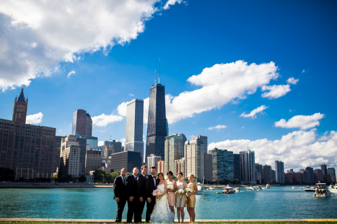 20. Union Station Wedding. Steve Koo Photography. Sweetchic Events. Olive Park.Chicago Skyline.